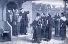Wycliffe sends out Lollard Preachers