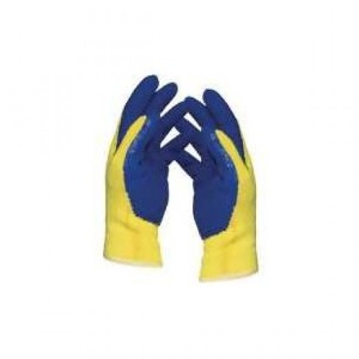 Weston KevlarR Cut-Resistant Gloves - Yellow/ Blue (Large)