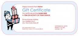 Source: printable gift certificate