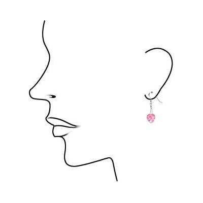 Romance her this Valentines Day with Pink Crystal Heart Earrings