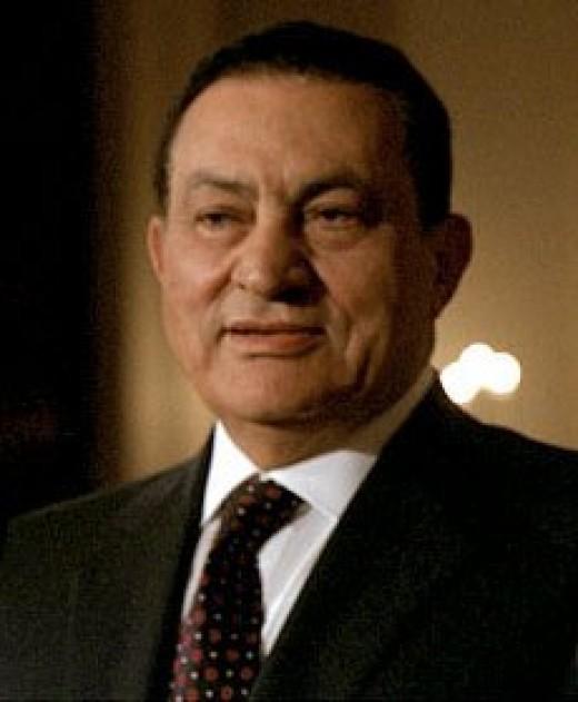 Egyptian President Mohammed Hosni Mubarak.