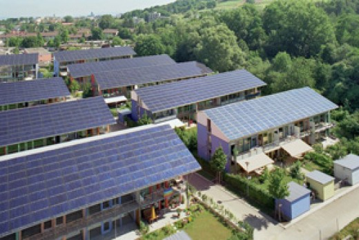 Solar Settlement in Freiburg, Germany
