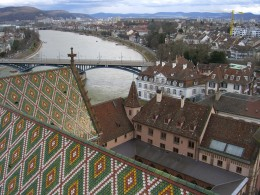 The City of Basel, and the Rhine, from the Minster