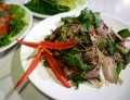 Thai Food Recipe - How To Make Nam Tok Nuea Yang - Spicy B.B.Q. Beef Salad