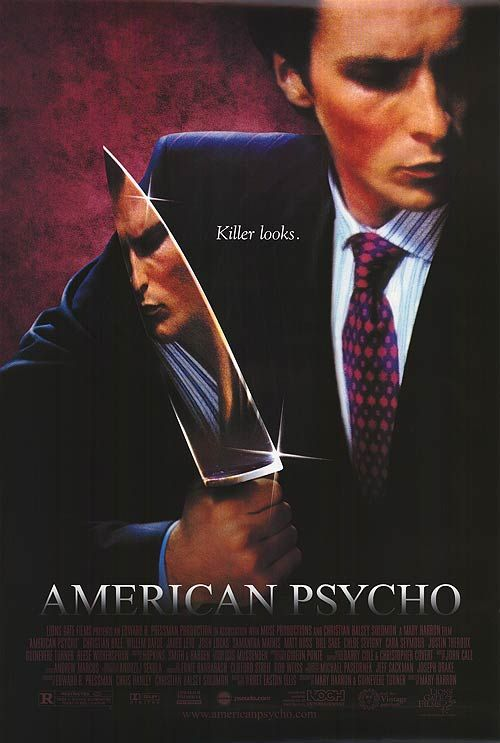 American Psycho movie poster, courtesy of impawards.com