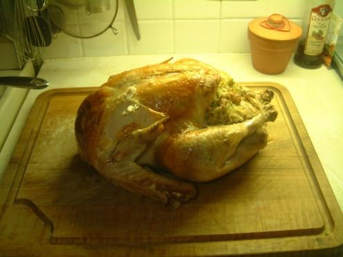 Stuffed Turkey Ready to Enjoy