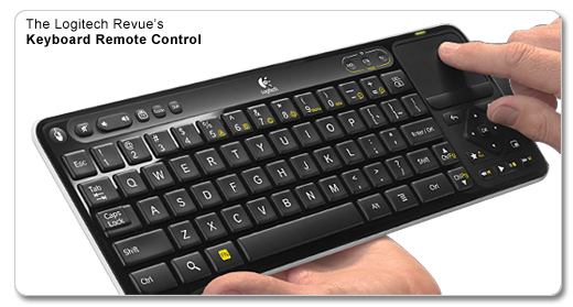 "Once you start using this keyboard as a remote control you will never go back to the old ""wand-style"" remotes of the past before Google TV."