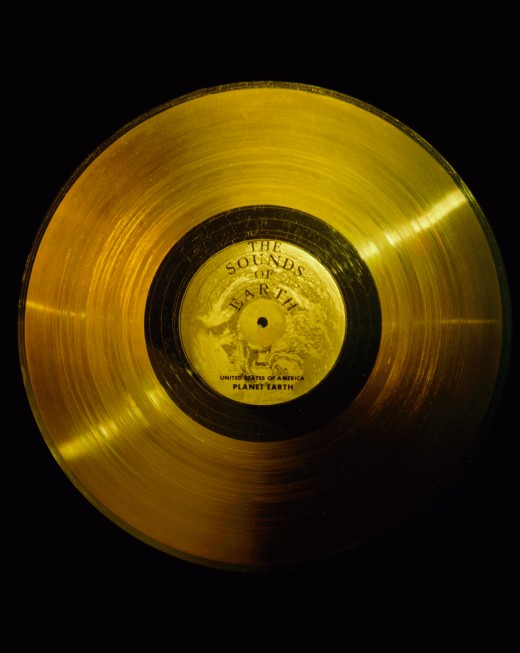 """The Sounds Of Earth"", the gold-plated record that is now in interstellar space."