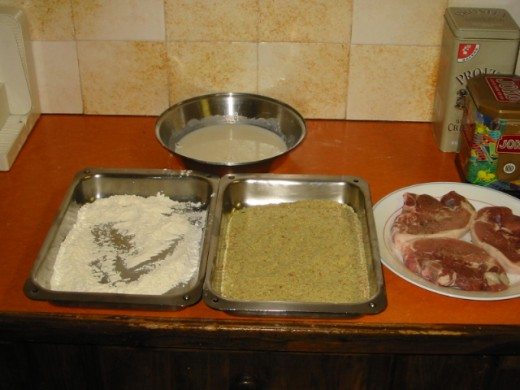 Preparation completed for the crumbing process