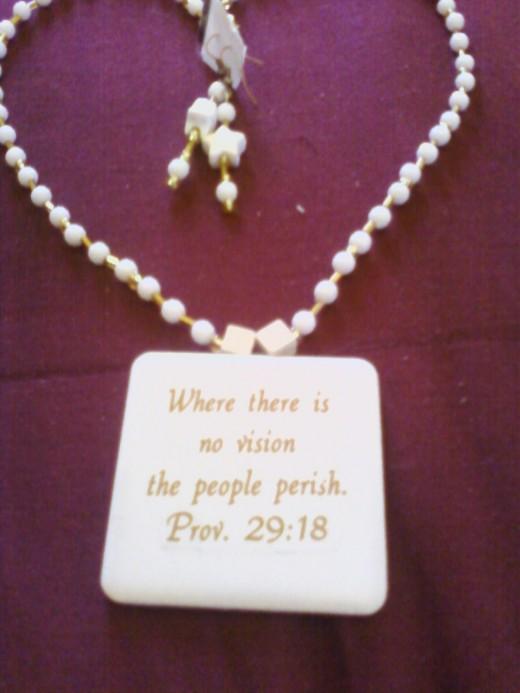 Biblical  verse Tile Jewelry