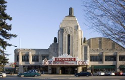 Pickwick Theater and its Art Deco Facade