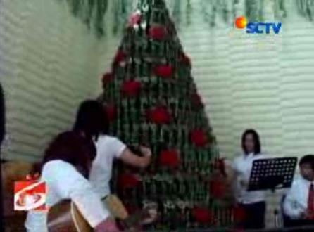Church musicians played music with this tree Courtesy : SCTV