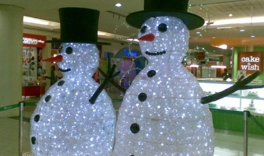 There are also plastic bottles snowmen.