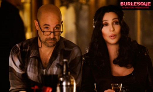 Sean (played by Stanley Tucci) and Tess (played by Cher)