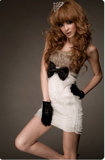K-Fash Fur Dress; $28.50