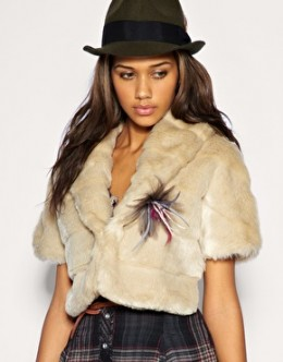A-Team Faux Fur Stole; $68.90