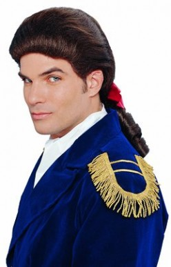 Selection of Men's historical wigs, ideal for Colonial theme costume