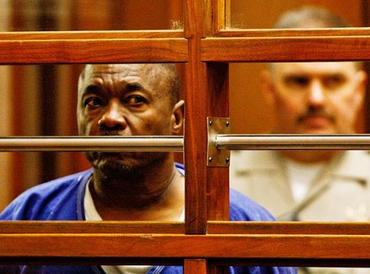 Lonnie David Franklin Jr., Grim Sleeper suspect as he appears in an LA Superior Court .