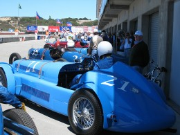 Brian Mullin (#38) in a 1938 Talbot Lago 26 SS, First place in Class 1A at the 2007 races