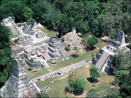 Tikal is one of many Maya temple city complexes that served to mark the days and seasons for festivities, sacrifices, watch the sky and to forecast the future.