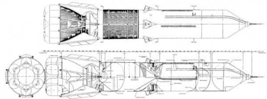 Sea Dragon schematics from NASA design documents
