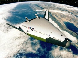 Artist's conception of a VentureStar in orbit.