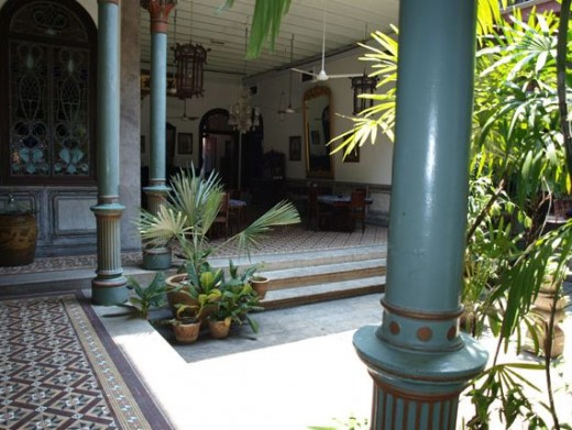 The Mansion's courtyard is where all 5 earth elements converge for maximum Chi