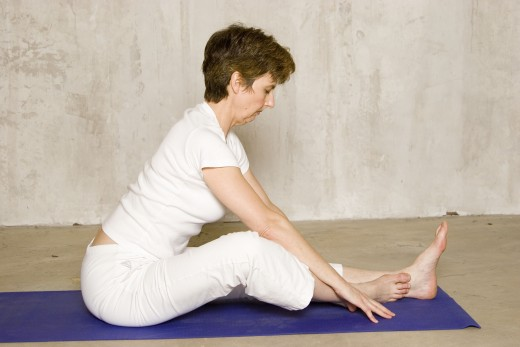 head-to-knees pose easy variation