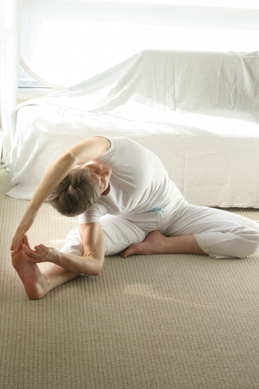 extended side stretch deeper variation