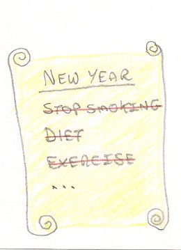 List of busted New Year Resolutions