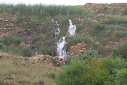 A waterfall in the Krugersdorp Game reserve. A grey drizzly Sunday, a great day to take some photographs.