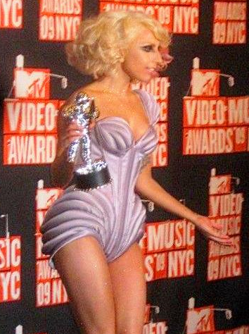 Lady Gaga at 2009 MTV Awards - photo from wikimedia commons