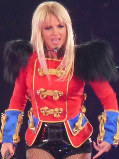 Britney Spears during her Circus Live performance in London 2009 - photo from wikimedia commons