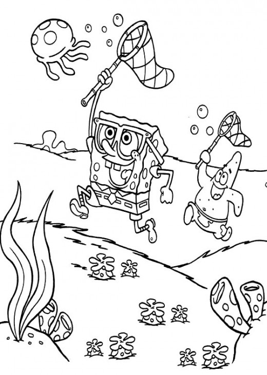 Printable Coloring Pages Spongebob. Free Printable Coloring Pages
