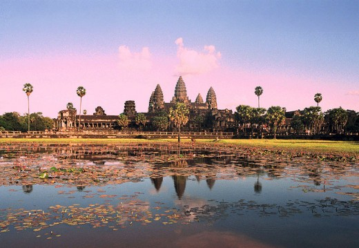 Angkor Wat is the world's largest religious building in Cambodia