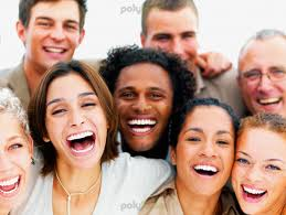 People laughing together