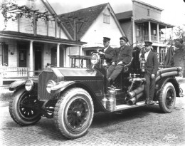 Firemen in a thriving Ybor City in 1919.