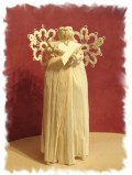 My granddaughter and I learned to make corn husk dolls this autumn. I added the tatted elements to mine. So much fun!