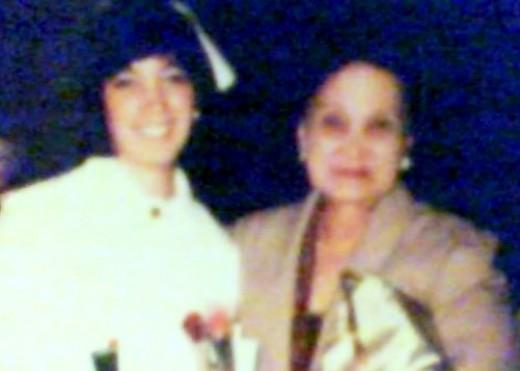 photo: me & Grandma @ my graduation,  1984.