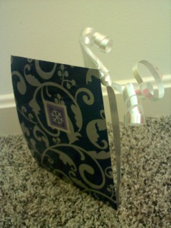 This is the back. I used a square from the second wrapping paper to create a theme.