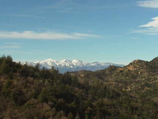 Mount Baldy is a snow capped wonderland.