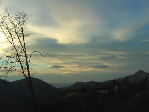 The view of Hesperia in the late afternoon as photograph in Lake Arrowhead, California.