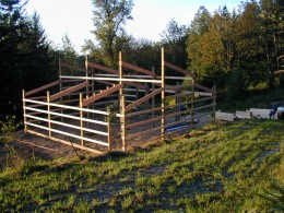 Off Grid Living: Pole Barn Frame Under Construction