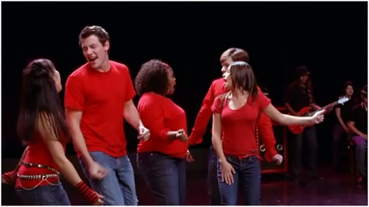 "New Directions performing ""Don't Stop Believing"" by Journey"