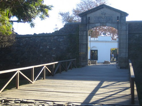 Old gate at Colonia del Sacramento