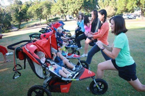 Stroller fitness classes are popular among new moms