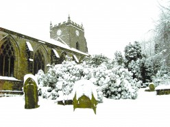 THE YEW TREE and church grounds