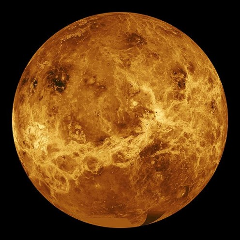 "This file is in the public domain because it was created by NASA. NASA copyright policy states that ""NASA material is not protected by copyright unless noted"". http://en.wikipedia.org/wiki/File:Venus_globe.jpg"