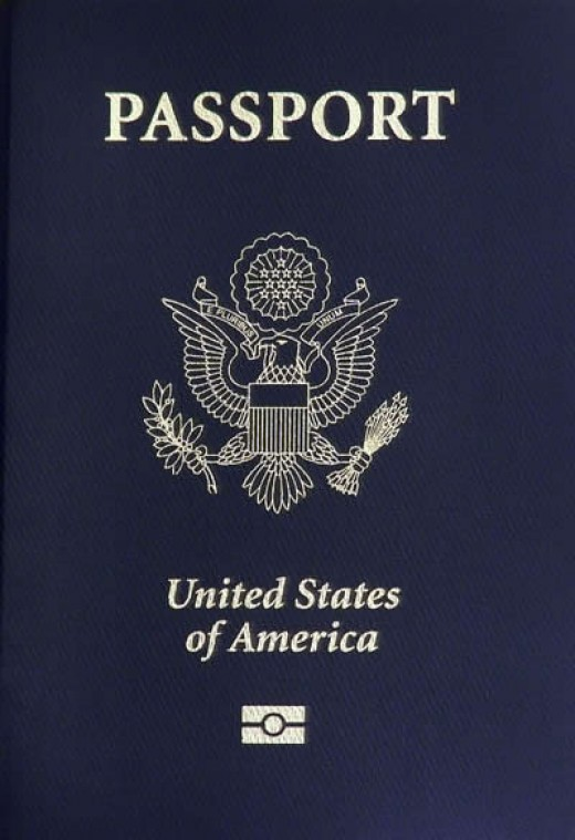 A biometric passport book-- it contains a chip that has an electronic copy of your photo, identification info, and anything printed inside your passport, and can be used to track your movements when scanned.
