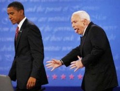 Obama as Othello ; A Shakespeare Parody. Act 2 Scene 1 - The Head to Head Debate with McCain.